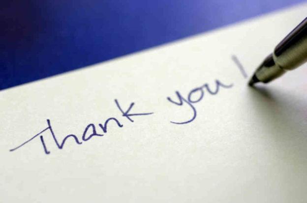 handwritten thank you letters